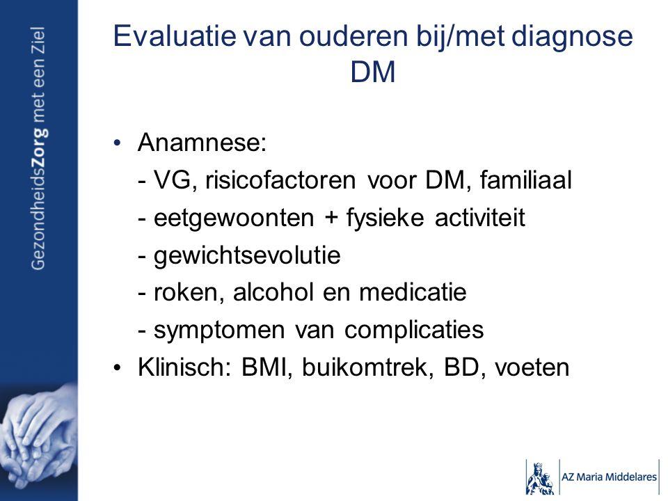 Evaluatie van ouderen bij/met diagnose DM