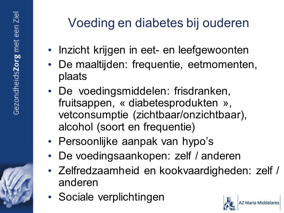 Voeding en diabetes bij ouderen