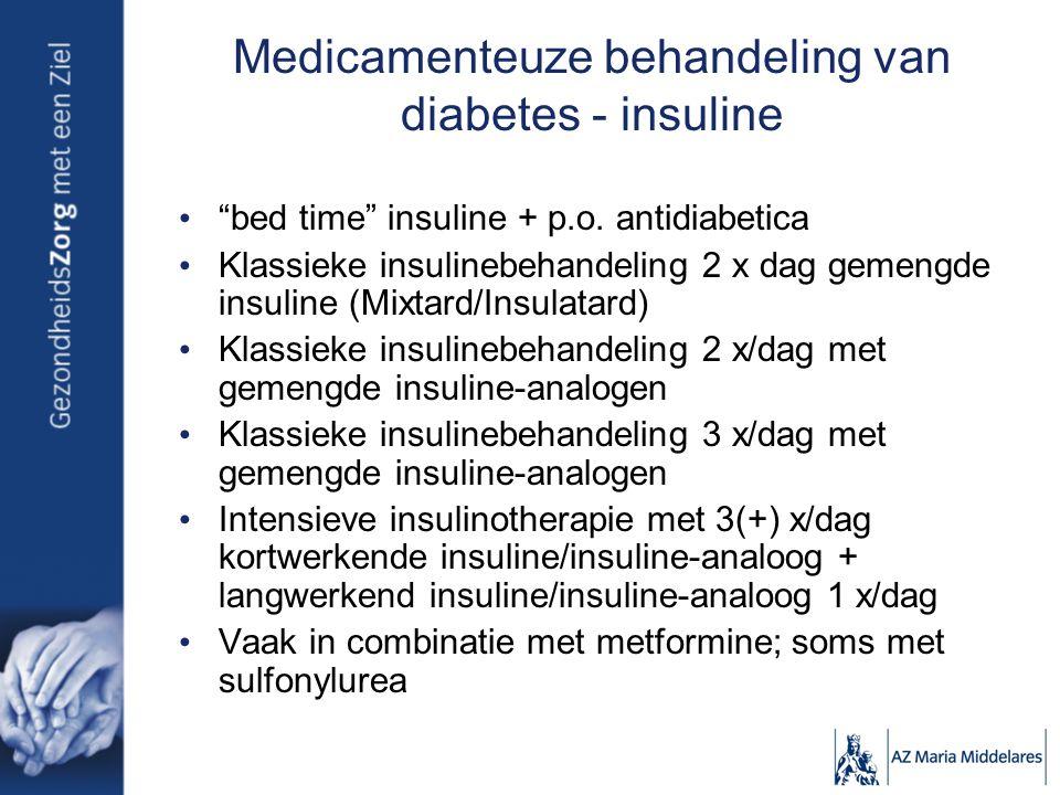 Medicamenteuze behandeling van diabetes - insuline