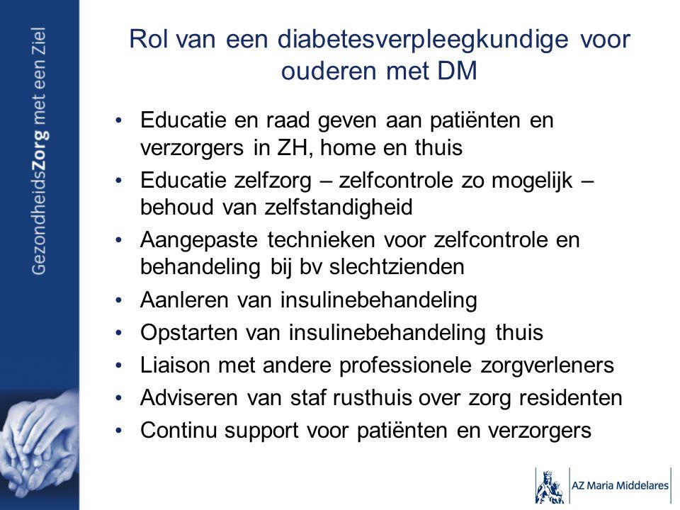 Rol van een diabetesverpleegkundige voor ouderen met DM