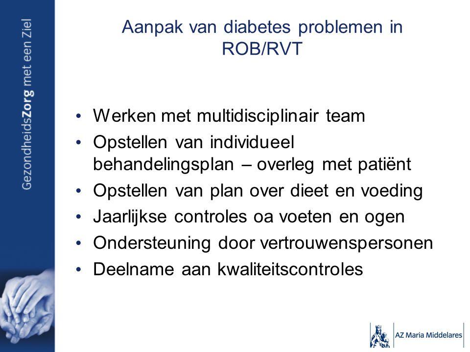 Aanpak van diabetes problemen in ROB/RVT