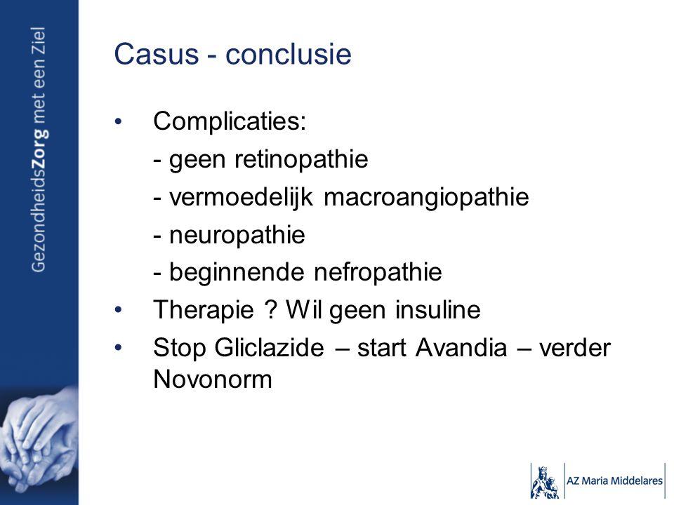 Casus - conclusie Complicaties: - geen retinopathie
