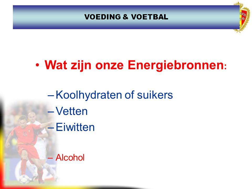 Wat zijn onze Energiebronnen: