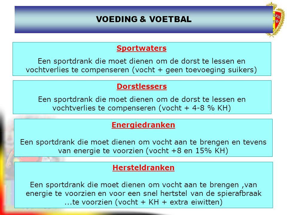 VOEDING & VOETBAL Sportwaters