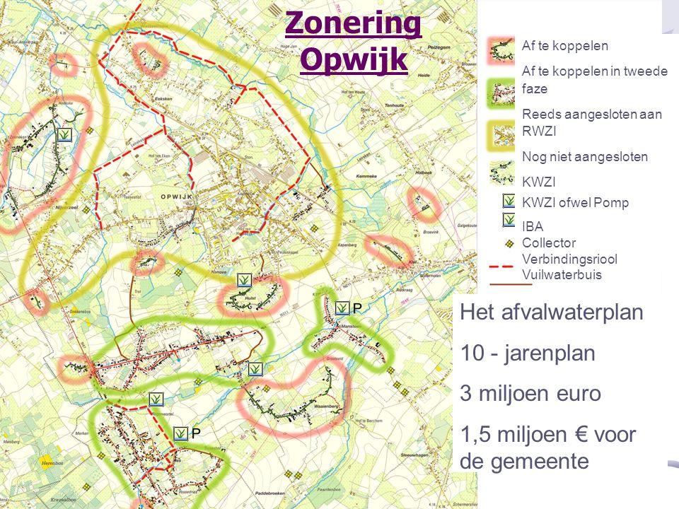 Zonering Opwijk Het afvalwaterplan 10 - jarenplan 3 miljoen euro