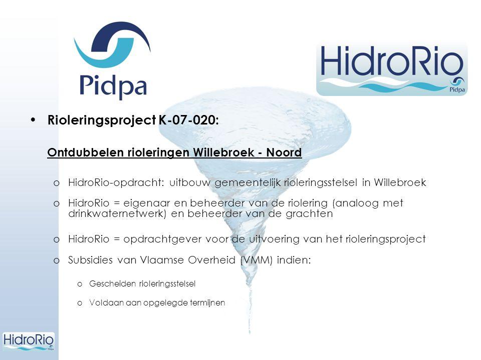 Rioleringsproject K-07-020: Ontdubbelen rioleringen Willebroek - Noord
