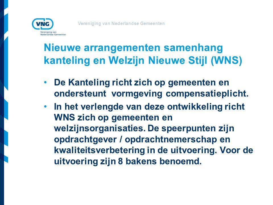 Nieuwe arrangementen samenhang kanteling en Welzijn Nieuwe Stijl (WNS)