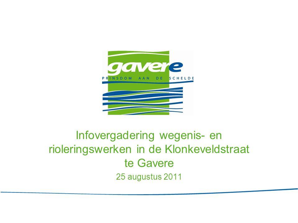 Infovergadering wegenis- en rioleringswerken in de Klonkeveldstraat te Gavere