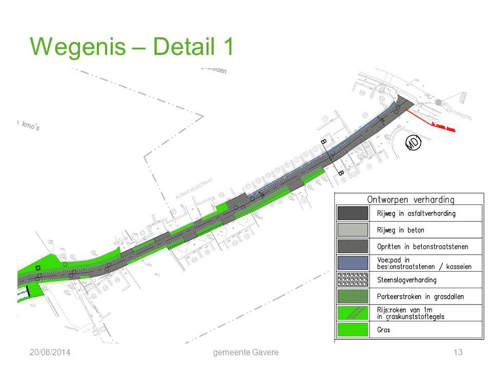 Wegenis – Detail 1 5/04/2017 gemeente Gavere 13
