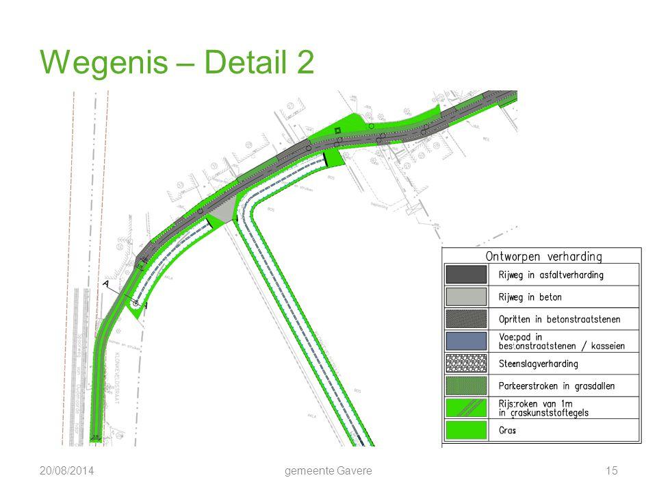 Wegenis – Detail 2 5/04/2017 gemeente Gavere 15