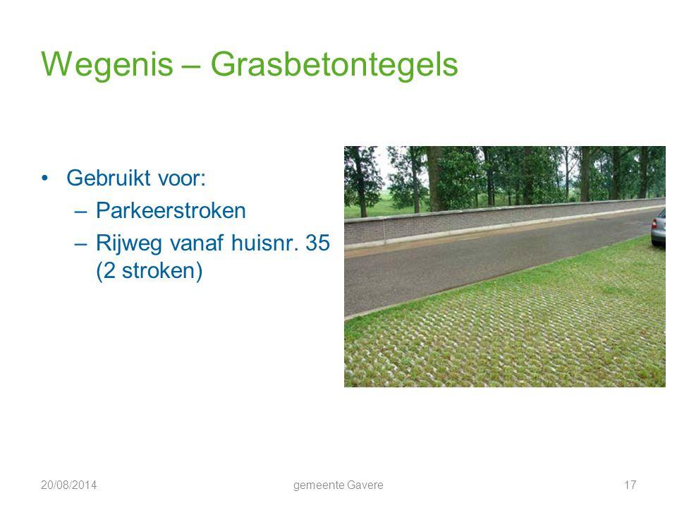 Wegenis – Grasbetontegels