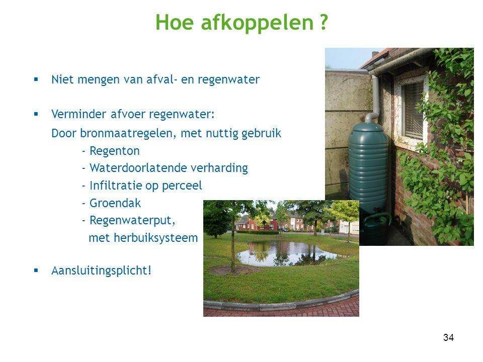 Hoe afkoppelen Niet mengen van afval- en regenwater
