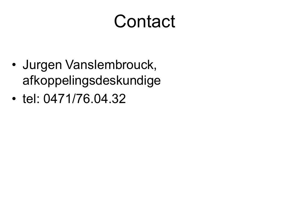 Contact Jurgen Vanslembrouck, afkoppelingsdeskundige