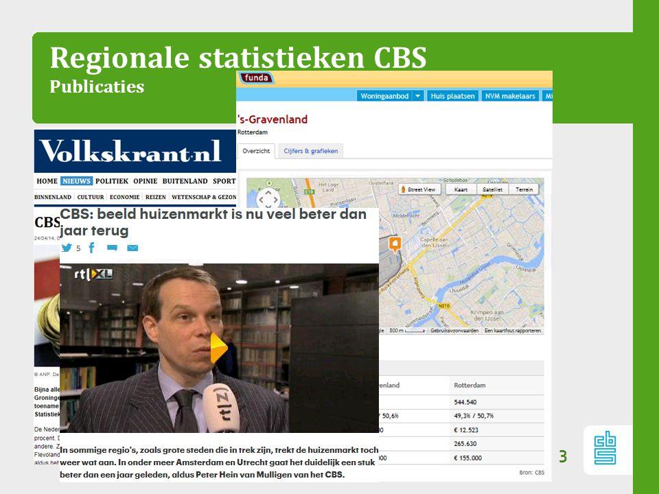 Regionale statistieken CBS Publicaties