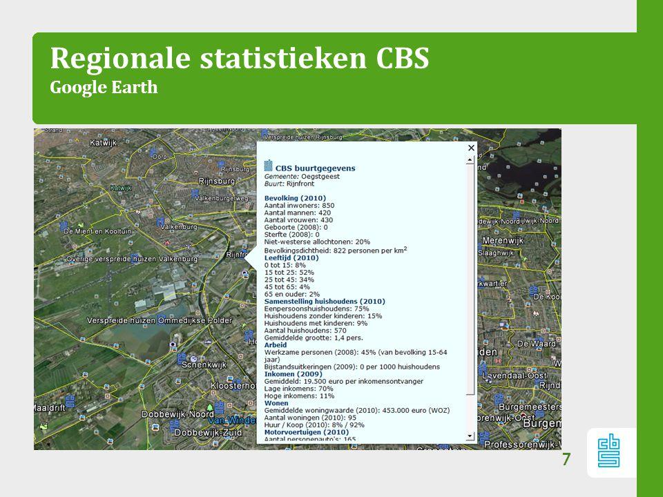 Regionale statistieken CBS Google Earth
