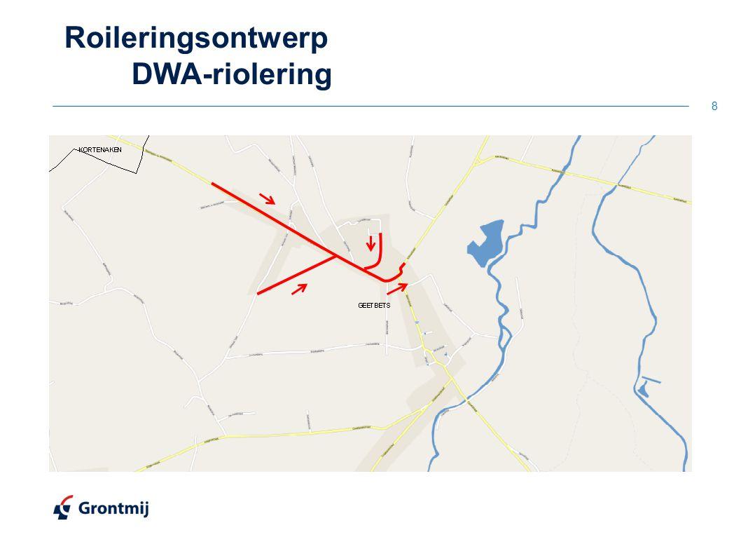 Roileringsontwerp DWA-riolering