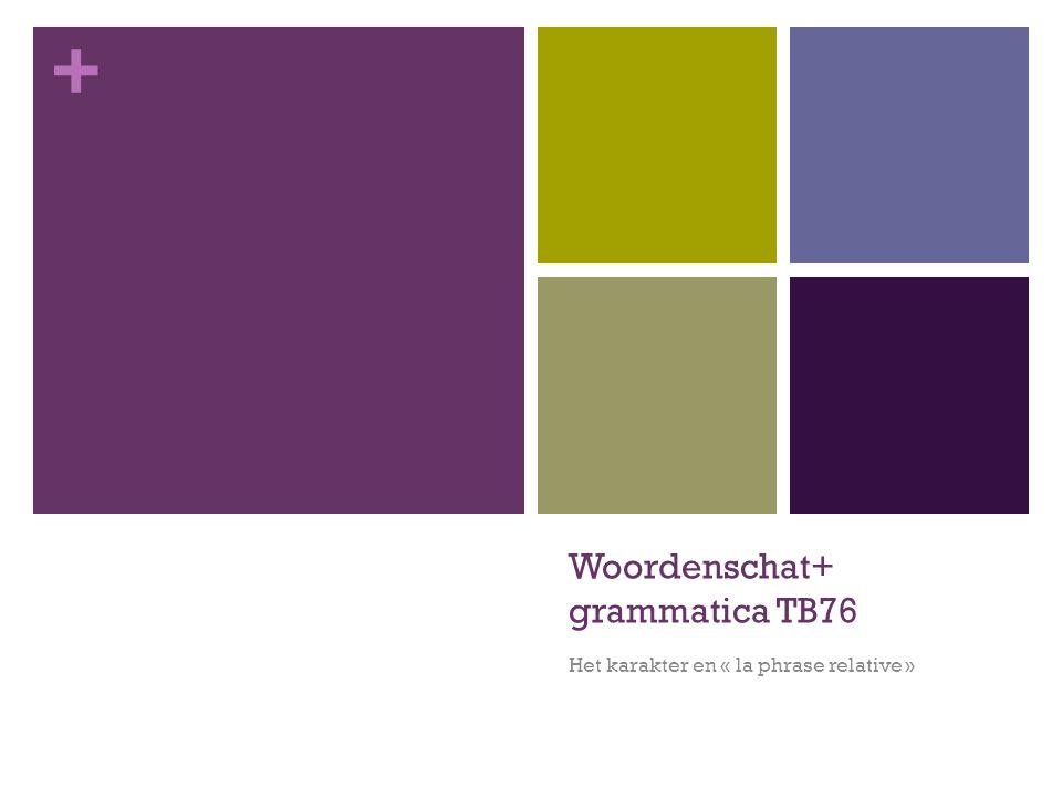 Woordenschat+ grammatica TB76