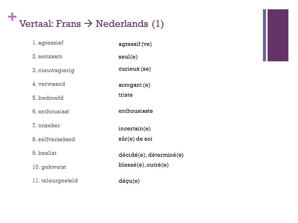 Vertaal: Frans  Nederlands (1)
