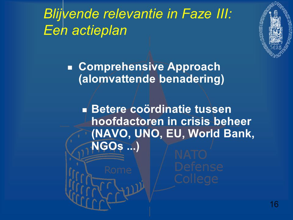 Blijvende relevantie in Faze III: Een actieplan