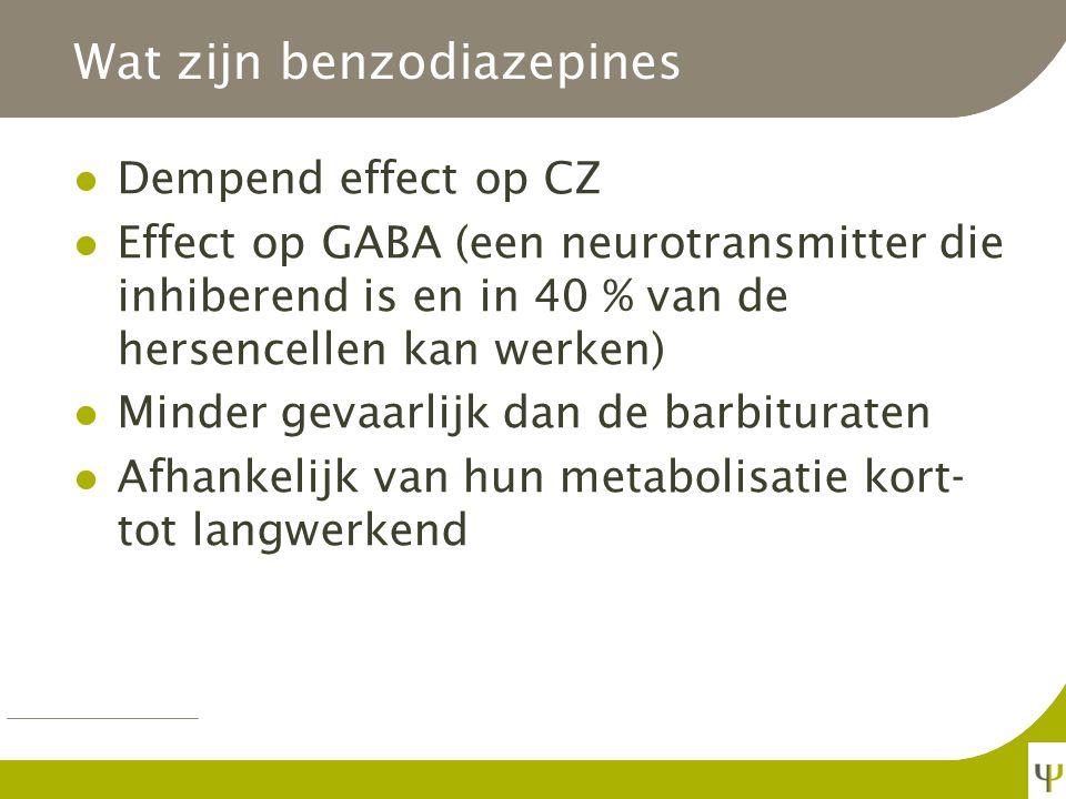 Wat zijn benzodiazepines