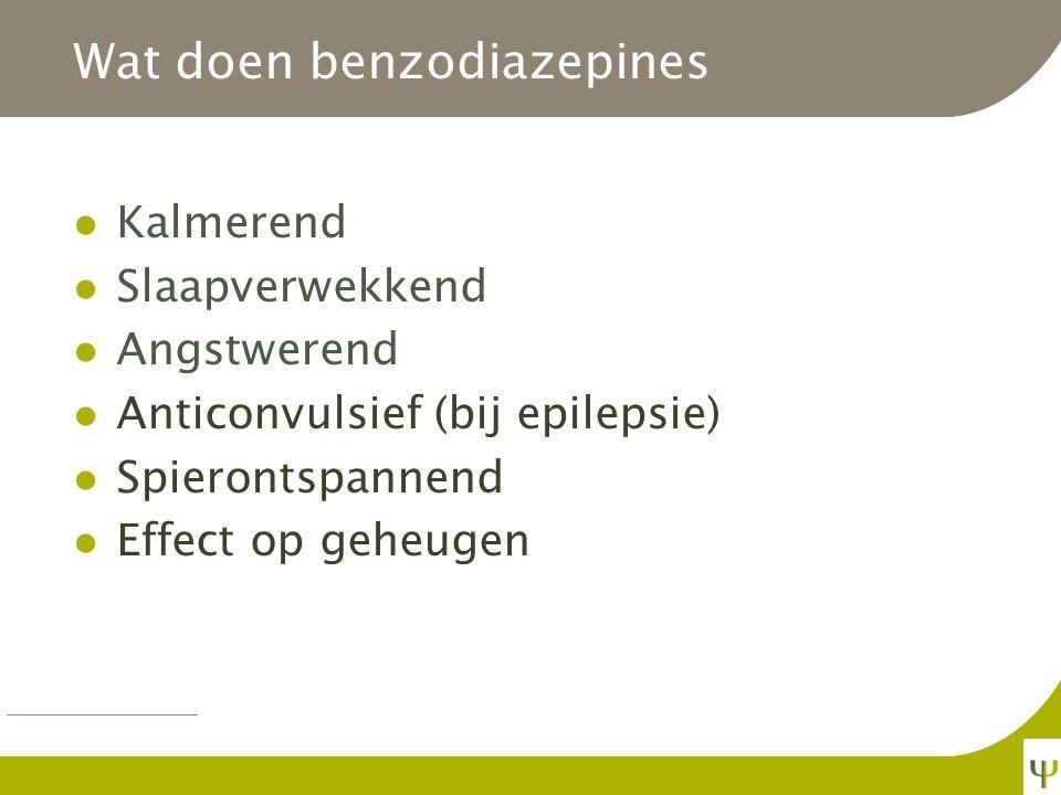 Wat doen benzodiazepines