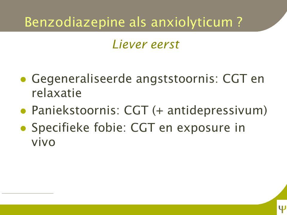 Benzodiazepine als anxiolyticum