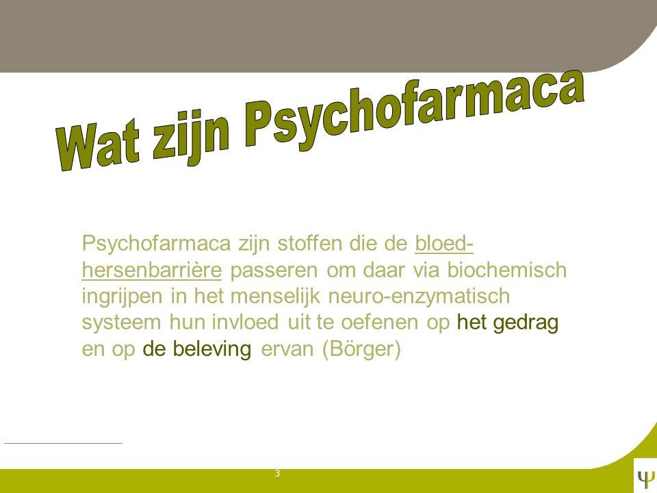 Wat zijn Psychofarmaca