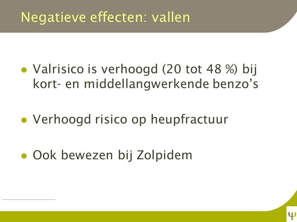 Negatieve effecten: vallen