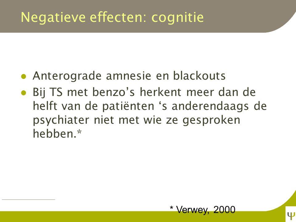 Negatieve effecten: cognitie