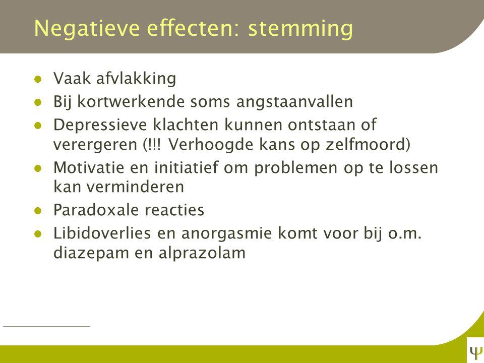 Negatieve effecten: stemming