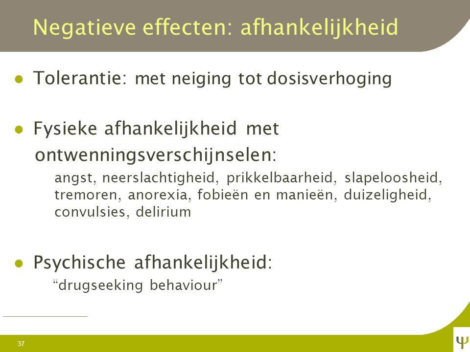Negatieve effecten: afhankelijkheid