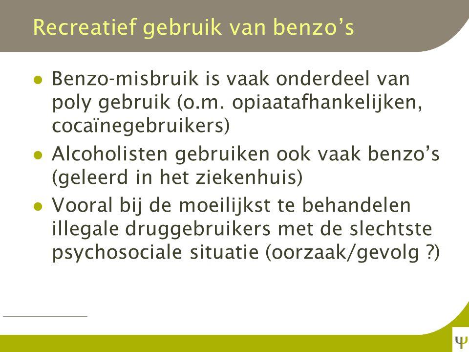 Recreatief gebruik van benzo's