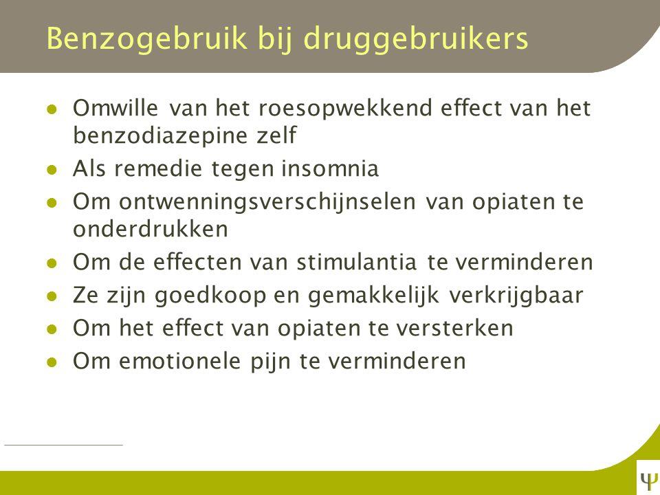 Benzogebruik bij druggebruikers