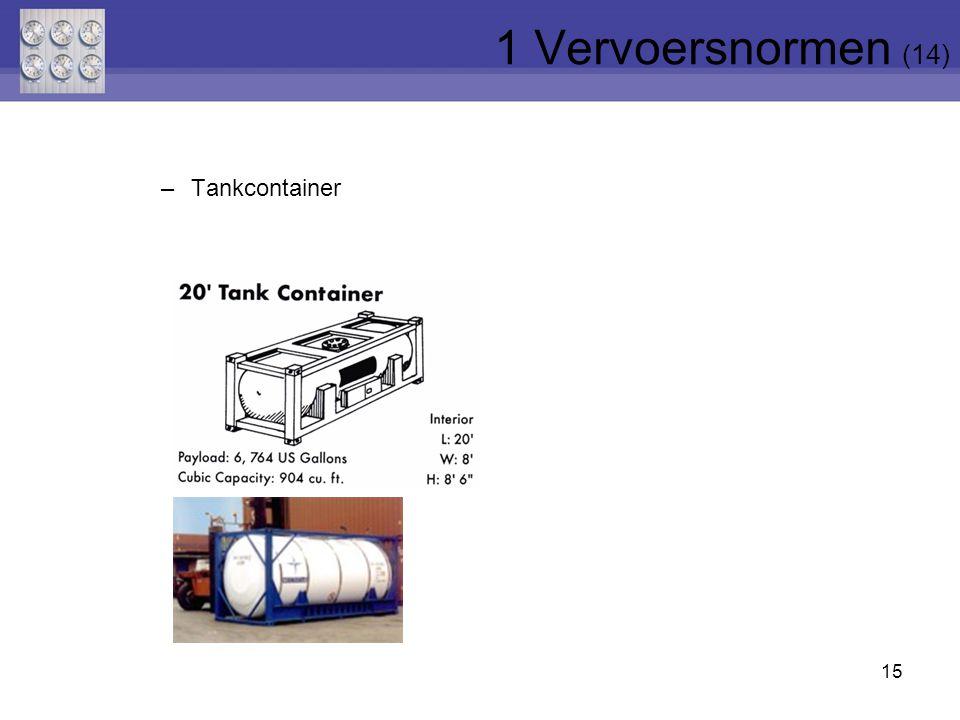 1 Vervoersnormen (14) Tankcontainer