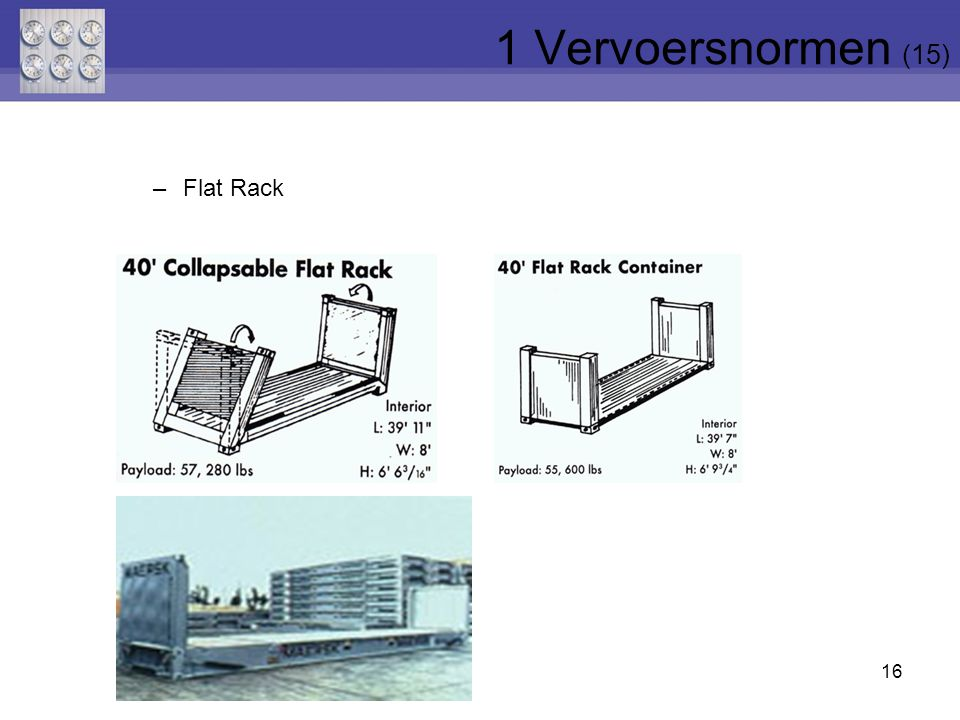 1 Vervoersnormen (15) Flat Rack