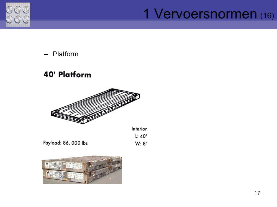 1 Vervoersnormen (16) Platform