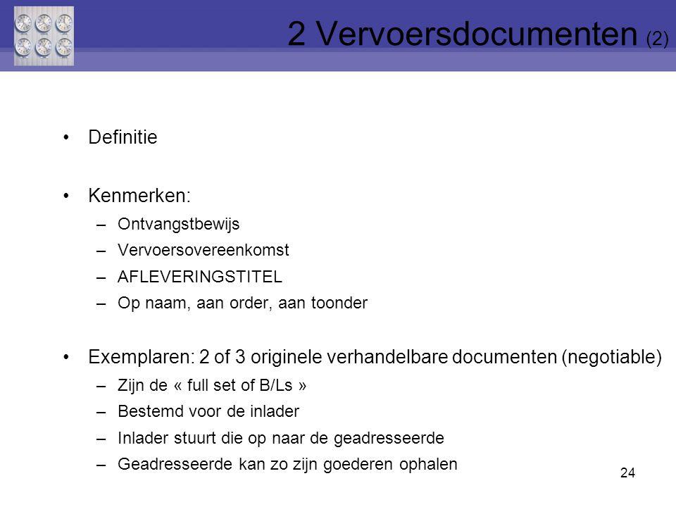 2 Vervoersdocumenten (2)