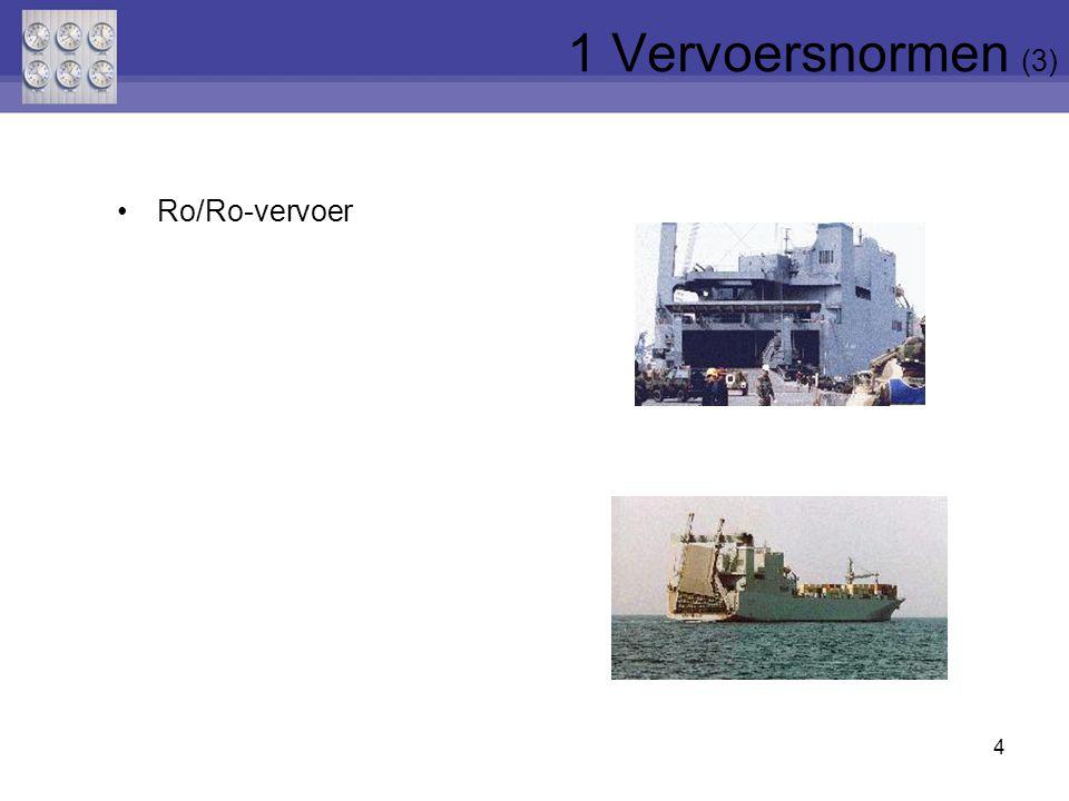 1 Vervoersnormen (3) Ro/Ro-vervoer