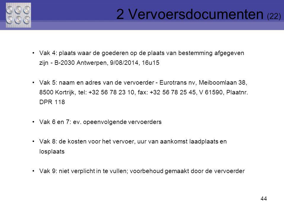 2 Vervoersdocumenten (22)