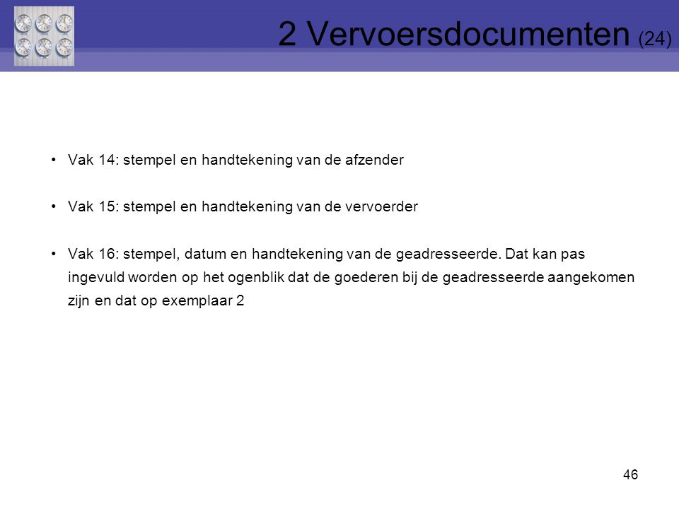 2 Vervoersdocumenten (24)
