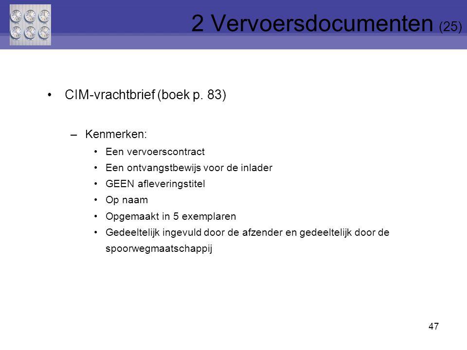 2 Vervoersdocumenten (25)