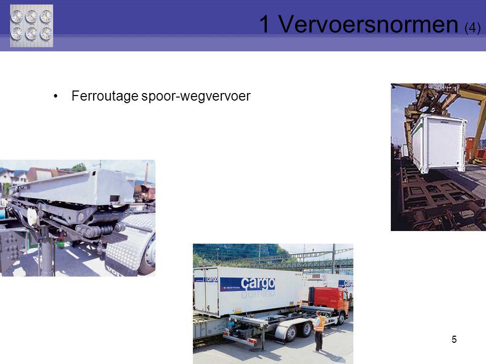 1 Vervoersnormen (4) Ferroutage spoor-wegvervoer
