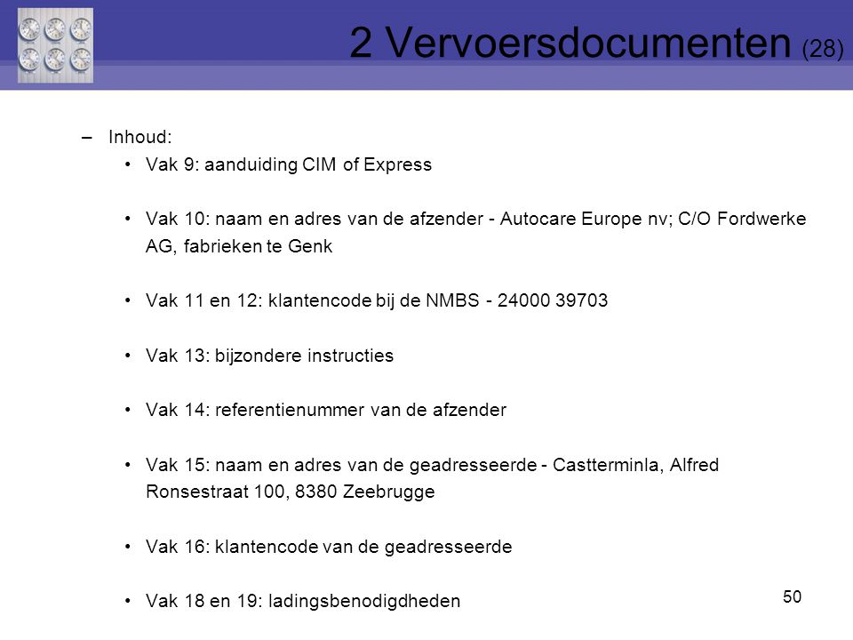 2 Vervoersdocumenten (28)