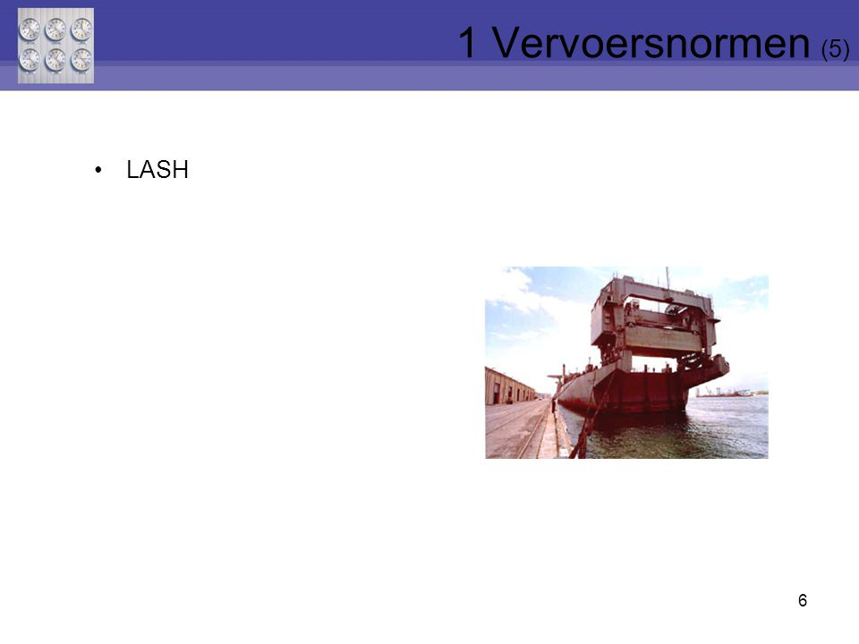 1 Vervoersnormen (5) LASH