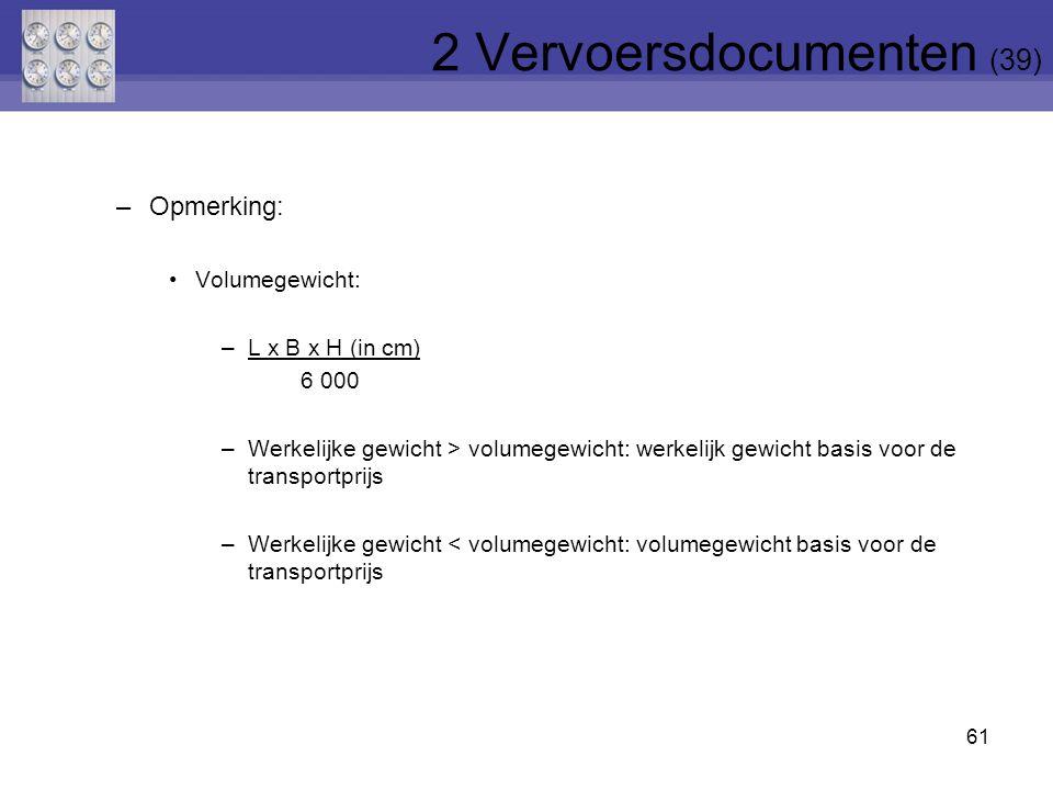 2 Vervoersdocumenten (39)