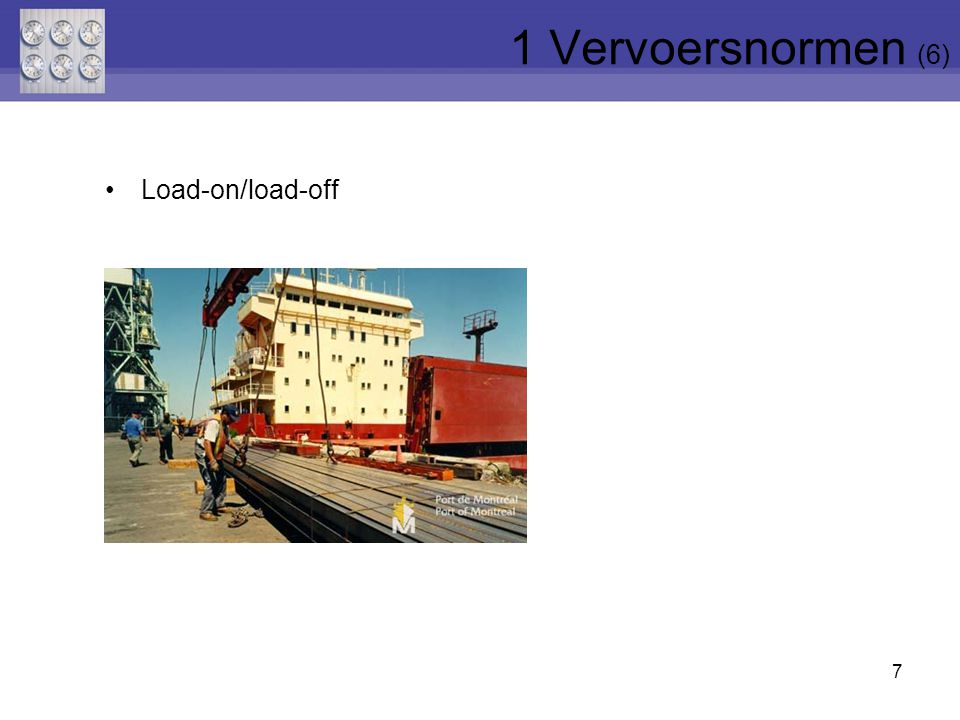 1 Vervoersnormen (6) Load-on/load-off