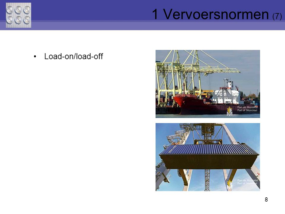 1 Vervoersnormen (7) Load-on/load-off