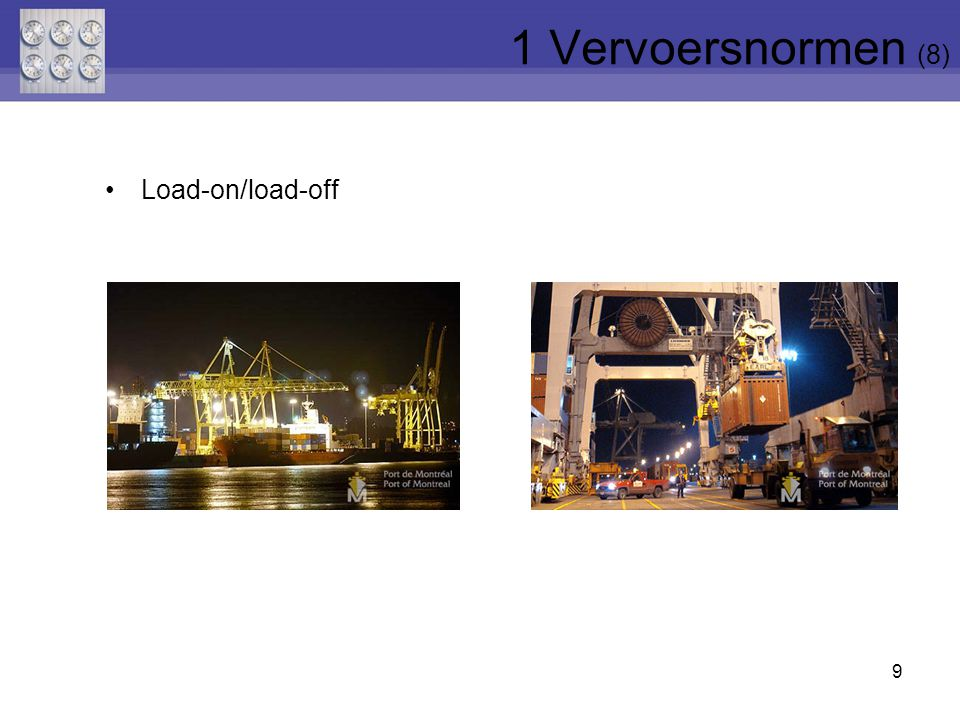 1 Vervoersnormen (8) Load-on/load-off