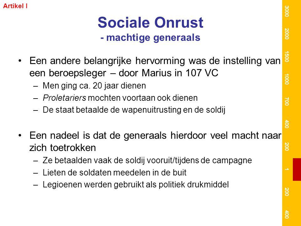 Sociale Onrust - machtige generaals