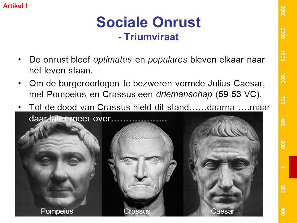 Sociale Onrust - Triumviraat